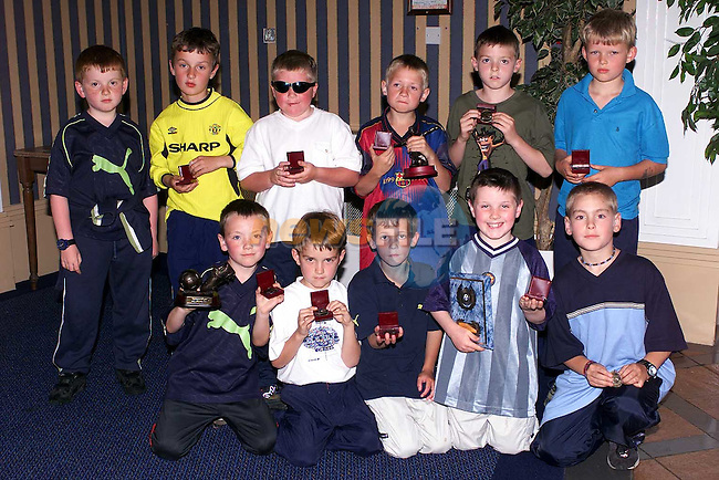 Under 8's, League Champions at the EMU annual presentations in the Europa Hotel..Picture Paul Mohan Newsfile.
