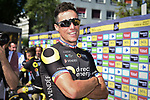 Sylvain Chavanel (FRA) Direct Energie at sign on before the start of Stage 5 of the 2018 Tour de France running 204.5km from Lorient to Quimper, France. 11th July 2018. <br /> Picture: ASO/Pauline Ballet | Cyclefile<br /> All photos usage must carry mandatory copyright credit (&copy; Cyclefile | ASO/Pauline Ballet)
