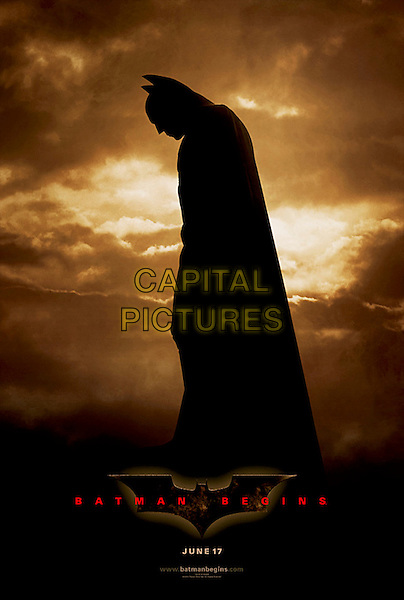 ONE SHEET.in Batman Begins.*Editorial Use Only*.www.capitalpictures.com.sales@capitalpictures.com.Supplied by Capital Pictures.