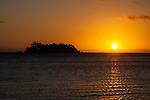 Sunset off Wadigi Island, Fiji