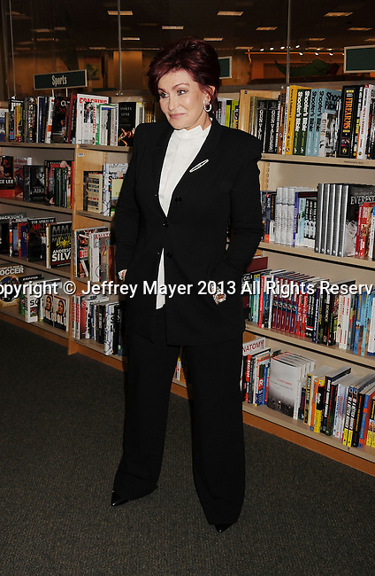 LOS ANGELES, CA- SEPTEMBER 18: TV personality Sharon Osbourne signs copies of her new book 'Mama Hook' at Barnes & Noble bookstore at The Grove on September 18, 2013 in Los Angeles, California.