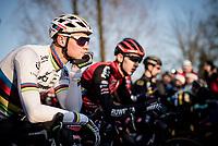 Mathieu van der Poel (NED/Corendon-Circus) at the start of the race<br /> <br /> Azencross Loenhout 2019 (BEL)<br />  <br /> ©kramon