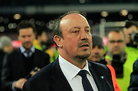 Rafael Benitez  durante l'incontro di ritorno della semifinale  Tim Cup tra     Napoli - Lazio allo  Stadio San Paolo  di Napoli ,08 Aprile  2015