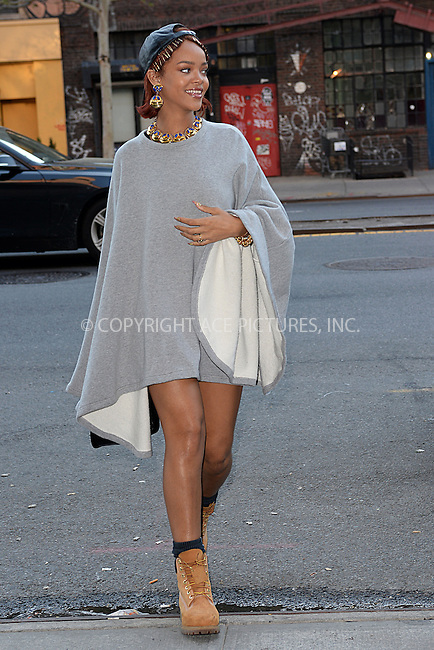 WWW.ACEPIXS.COM<br /> May 6, 2015 New York City<br /> <br /> Rihanna seen out and and about in New York City on May 6, 2015.<br /> <br /> By Line: Kristin Callahan/ACE Pictures<br /> ACE Pictures, Inc.<br /> tel: 646 769 0430<br /> Email: info@acepixs.com<br /> www.acepixs.com