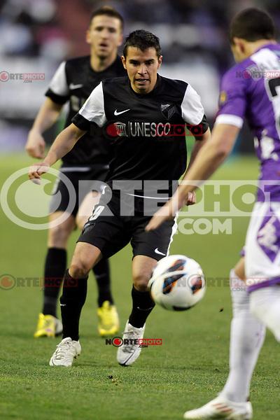 Saviola, Real Valladolid V Malaga CF match of La Liga 2012/13. 09/03/2012. Victor Blanco/Alterphotos