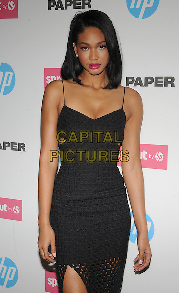 New York,NY- October 29: Chanel Iman attends the red carpet at the Sprout by HP and HP Multi Jet Fusion 3D Printer Launch Event in New York City on October 29,2014.   <br /> CAP/RTNSTV<br /> &copy;RTNSTV/MPI/Capital Pictures