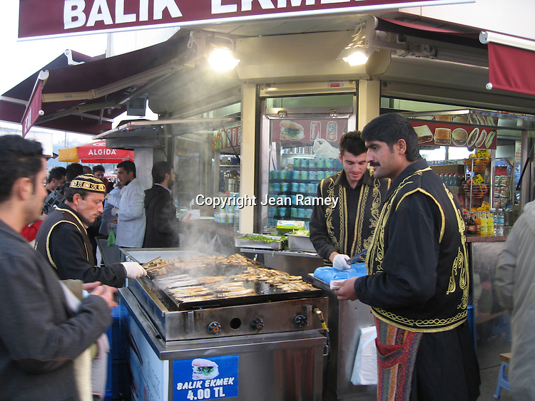 Fish stand, Istanbul