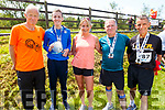 At the Ultra 40 miler with Born to Run on Saturday<br /> L to r: Frank O'Connor, Derek Griffin, Michelle Greaney, Jack Moriarty and Paddy Horan