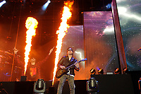 DERBY, ENGLAND - JUNE 8: Synyster Gates of 'Avenged Sevenfold' performing at Download Festival, Donington Park on June , 2018 in Derby<br /> CAP/MAR<br /> &copy;MAR/Capital Pictures