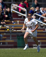 Boston College midfielder Sam Taylor (14) brings the ball forward. Boston College defeated Yale University, 16-5, at Newton Campus Field, April 28, 2012.