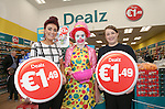 Official opening of new Dealz store in Enniscorthy. L-R: Annie Kinsella (duty manager), Donna O'Rourke and Andrea Kearney. Photo: John Walsh/@Newsfile