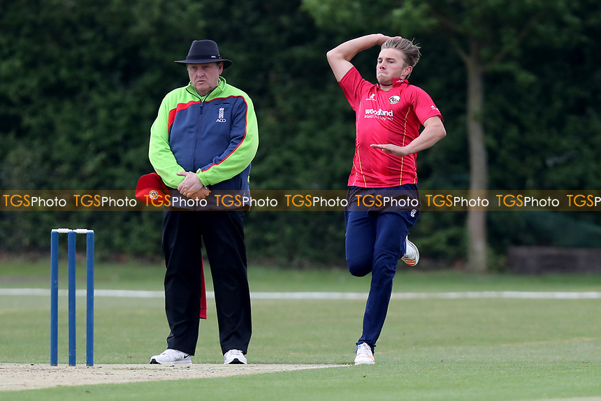 Aaron Beard in bowling action during Essex CCC 2nd XI vs Surrey CCC 2nd XI, Second XI Trophy Cricket at Billericay Cricket Club on 3rd May 2017