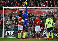 Nottingham Forest's Costel Pantilimon makes a save<br /> <br /> Photographer Rachel Holborn/CameraSport<br /> <br /> The EFL Sky Bet Championship - Nottingham Forest v Sheffield United - Saturday 3rd November 2018 - The City Ground - Nottingham<br /> <br /> World Copyright &copy; 2018 CameraSport. All rights reserved. 43 Linden Ave. Countesthorpe. Leicester. England. LE8 5PG - Tel: +44 (0) 116 277 4147 - admin@camerasport.com - www.camerasport.com
