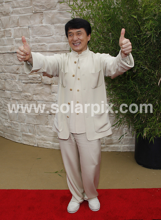 **ALL ROUND PICTURES FROM SOLARPIX.COM**.**SYNDICATION RIGHTS FOR UK, AUSTRALIA, DENMARK, PORTUGAL, S. AFRICA, SPAIN & DUBAI (U.A.E) & ASIA (EXCLUDING JAPAN) ONLY**.The Karate Kid Los Angeles Premiere - Arrivals, Mann Village Theater / Westwood, CA, USA,  07 June 2010.This pic: Jackie Chan.JOB REF: 11422    PHZ gabber    DATE: 07_06_2010.**MUST CREDIT SOLARPIX.COM OR DOUBLE FEE WILL BE CHARGED**.**MUST NOTIFY SOLARPIX OF ONLINE USAGE**.**CALL US ON: +34 952 811 768 or LOW RATE FROM UK 0844 617 7637**