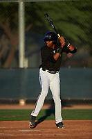 AZL D-backs Rafael Jimenez (32) at bat during an Arizona League game against the AZL Angels on July 20, 2019 at Salt River Fields at Talking Stick in Scottsdale, Arizona. The AZL Angels defeated the AZL D-backs 11-4. (Zachary Lucy/Four Seam Images)