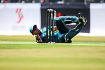 Wicketkeeper Farhaan Sayanvala of South Africa dives as he fields during Day 1 of Hong Kong Cricket World Sixes 2017 Group A match between Marylebone Cricket Club vs South Africa at Kowloon Cricket Club on 28 October 2017, in Hong Kong, China. Photo by Vivek Prakash / Power Sport Images