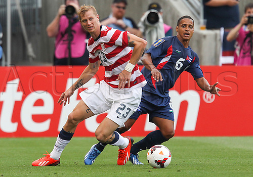 13.07.2013. Sandy, Utah, USA. US Men's National midfielder Josh Gatt (23) during the CONCACAF Gold Cup soccer match between USA Men's National team and Cuba at Rio Tinto Stadium in Sandy, UT. USA.