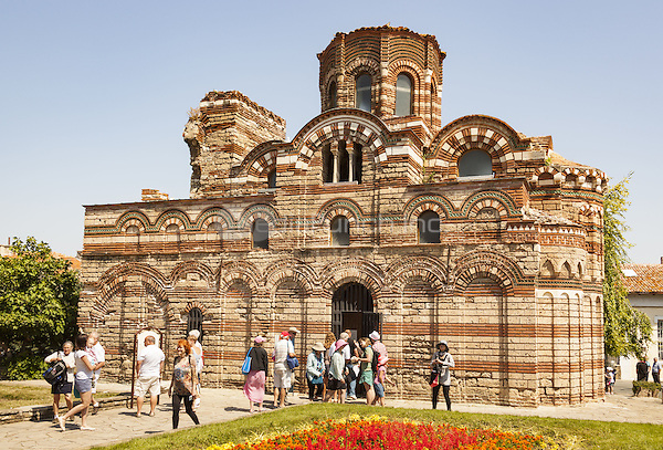 Tourists visiting Christ Pantocrator Church, Nessebar, Bulgaria  June 2015.<br /> CAP/MEL<br /> &copy;MEL/Capital Pictures /MediaPunch ***NORTH AND SOUTH AMERICA ONLY***