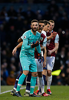 7th March 2020; Turf Moor, Burnley, Lanchashire, England; English Premier League Football, Burnley versus Tottenham Hotspur;  Tottenham keeper Hugo Lloris lines up in front of his defence and the Burnley attack as they wait for a corner to arrive in the area
