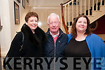 Brendan Kennelly Celebration: Attending the event to celebrate the 80th birthday of poet Brendan Kennelly at the Listowel Arms Hotel on Sunday last were Elma, Alan & Mary Kennelly.