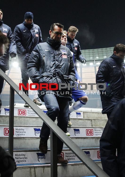 04.02.2015, OLympiastadion, Berlin, GER, 1.FBL, Hertha BSC vs. Bayer Leverkusen 04 , im Bild Manager Michael Preetz (Hertha BSC Berlin)<br /> <br />               <br /> Foto &copy; nordphoto /  Engler