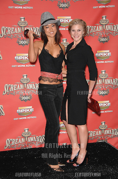 GRACE PARK (left) & KATEE SACKOFF, stars of Battlestar Glactica, at the Spike TV Scream Awards 2006 at the Pantages Theatre, Hollywood..October 7, 2006  Los Angeles, CA.Picture: Paul Smith / Featureflash