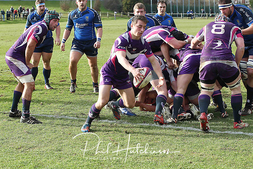 16.02.2013. Loughborough, England. ..Jordan Brookes in action during the SEE Division One fixture between Loughborough Students and Macclesfield RFC.