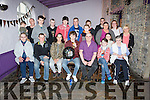 Jason O'Brien from Drumacurra, Causeway, celebrating his 18th birthday with friends and family on Friday at the Greyhound Bar