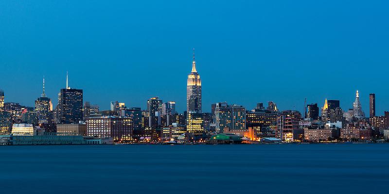 Manhattan Dusk<br /> From Hoboken, NJ