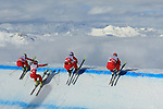 Swiss team during the FIS Skicross World Cup in Val Thorens, France