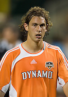 Houston defender Kelly Gray catches his breath. D.C. United defeated the Houston Dynamo 2-0 at RFK Stadium in Washington, D.C. on April 15, 2006