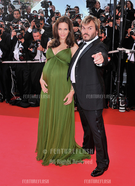 "Angelina Jolie & Jack Black at the gala premiere for their new movie ""Kung Fu Panda"" at the 61st Annual International Film Festival de Cannes..May 15, 2008  Cannes, France..Picture: Paul Smith / Featureflash"