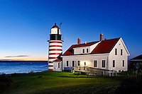 West Quoddy Head Lighthouse, Lubec, Maine, USA