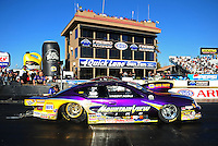 Feb. 17 2012; Chandler, AZ, USA; NHRA pro stock driver Vincent Nobile during qualifying for the Arizona Nationals at Firebird International Raceway. Mandatory Credit: Mark J. Rebilas-