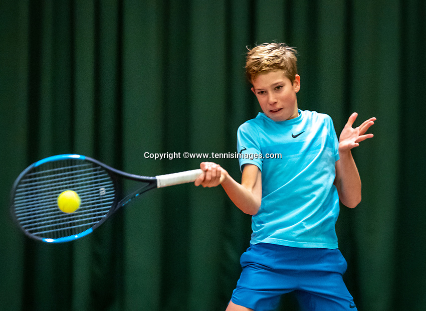 Wateringen, The Netherlands, December 4,  2019, De Rhijenhof , NOJK 14 and18 years, Thijs Boogaard  (NED)<br /> Photo: www.tennisimages.com/Henk Koster