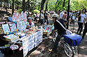 May 5, 2012, Tokyo, Japan - Art Market was held today, the fifth of May,  at Inokashira Park in Kichijyouji, Tokyo, Japan. A lot of people from all over the city and the surroundings gathered together to check the shops and assist to musicians and magicians performances. Many events are held throughout Tokyo during the Golden Week to promote arts and crafts of all kinds. (Photo by Francesco Libassi)