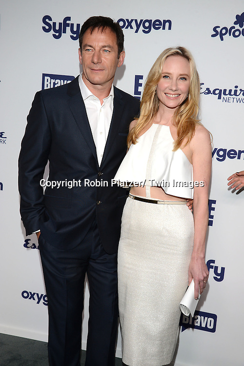 Jasons Isaacs and Anne Heche attends the NBCUniversal Cable Entertainment Upfront <br /> on May 15, 2014 at The Javits Center North Hall in New York City, New York, USA.