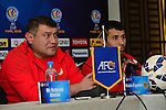 Team formers of FC Istikol vs Johor Darul Ta'zim attends their press conference prior to the FC Istikol vs Johor Darul Ta'zim match as part of  the 2015 AFC Cup 2015 Final match on October 30, 2015 at the Central Republican Stadium in Dushanbe, Tajikistan. Photo by  Rustam Yuldashev/World Sport Group