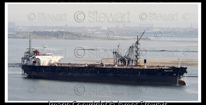 "27/04/2008   Collect Pic: James Stewart.File Name : sct_jspa01_ineos.HE MASSIVE TANKER, ""OCEAN LADY"" SITS MOORED AT HOUND POINT, SOUTH QUEENSFERRY....James Stewart Photo Agency 19 Carronlea Drive, Falkirk. FK2 8DN      Vat Reg No. 607 6932 25.Studio      : +44 (0)1324 611191 .Mobile      : +44 (0)7721 416997.E-mail  :  jim@jspa.co.uk.If you require further information then contact Jim Stewart on any of the numbers above........"