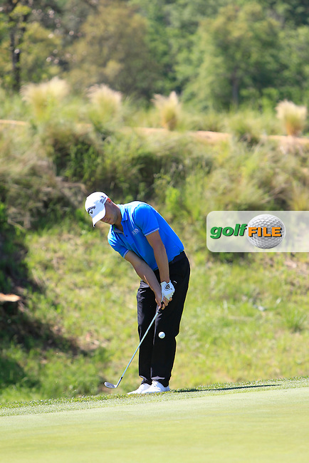 Alex Noren (SWE) on the 17th  during Thursday's Round 1 of The Open De Espana at The PGA Catalunya Resort. 15th May 2014.<br /> Picture:  Thos Caffrey / www.golffile.ie