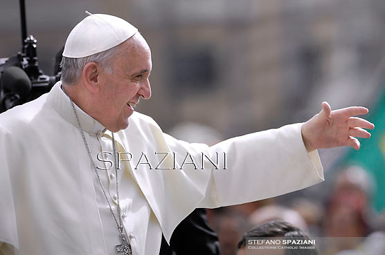 Pope Francis during his weekly general audience in St. Peter square at the Vatican, Wednesday. 11 September  2013
