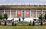 Moscow's Luzhniki Stadium prepares for the Champions League final<br /> Preview pictures before the Champions League match at the Luzhniki Stadium, Moscow. Picture date 19th May 2008. Picture credit should read: Simon Bellis/Sportimage