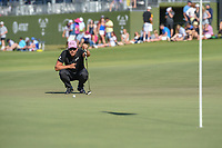Henrik Stenson (SWE) looks over his putt on 18 during round 4 of the AT&T Byron Nelson, Trinity Forest Golf Club, Dallas, Texas, USA. 5/12/2019.<br /> Picture: Golffile   Ken Murray<br /> <br /> <br /> All photo usage must carry mandatory copyright credit (© Golffile   Ken Murray)