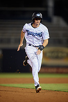 Tampa Tarpons right fielder Ben Ruta (6) running the bases during the second game of a doubleheader against the Lakeland Flying Tigers on May 31, 2018 at George M. Steinbrenner Field in Tampa, Florida.  Lakeland defeated Tampa 3-2.  (Mike Janes/Four Seam Images)