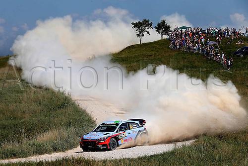 02.07.2016. Mikolajki, Poland. WRC Rally of Poland, stages 12-17.  Hayden Paddon (NZL) – John Kennard (NZL) - Hyundai i20 WRC