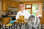 Young Bee Keeper Cian Wall from Derrymore has produced over 12 jars of Honey from his own hive