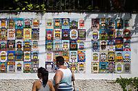 RIO DE JANEIRO,RJ, 05.01.2019 - COTIDIANO-RJ - Cenas do dia. Painel de mosaicos em homenagem ao Bonde de Santa Tereza, feito pelos artistas moradores do bairro de Santa Tereza,  Rio de Janeiro (05)(Foto: Vanessa Ataliba/Brazil Photo Press)