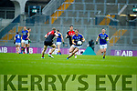 Stephen O'Brien Kerry in action against Colm Boyle Mayo in the All Ireland Semi Final in Croke Park on Sunday.