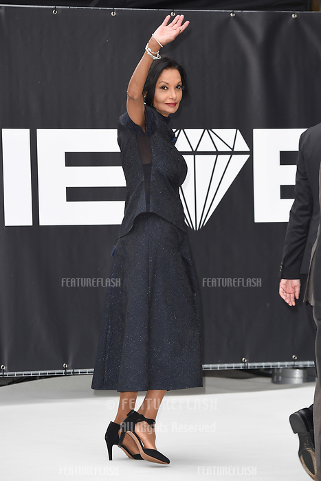 "LONDON, UK. September 12, 2018: Lady Shakira Caine at the World Premiere of ""King of Thieves"" at the Vue Cinema, Leicester Square, London.<br /> Picture: Steve Vas/Featureflash"