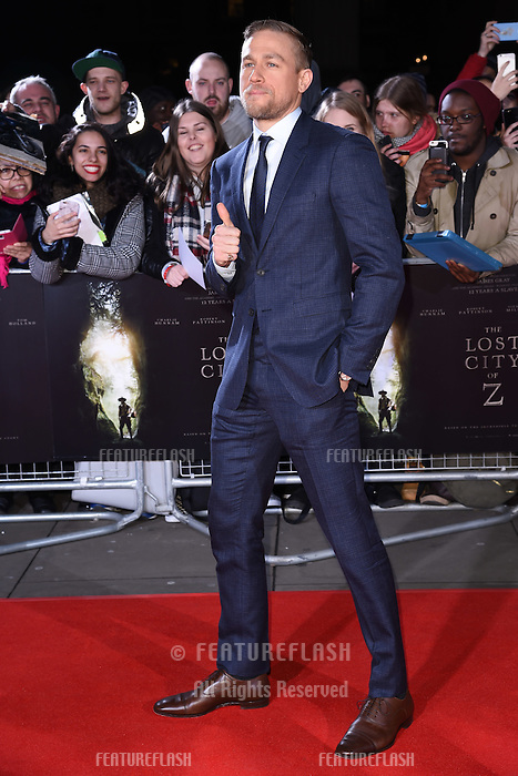 Charlie Hunnam at the UK premiere of &quot;The Lost City of Z&quot; at the British Museum, London, UK. <br /> 16 February  2017<br /> Picture: Steve Vas/Featureflash/SilverHub 0208 004 5359 sales@silverhubmedia.com
